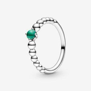 🔥PANDORA Rainforest Green Beaded Ring